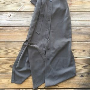 Dresses - Vintage Banana Republic Button Down Olive Dress